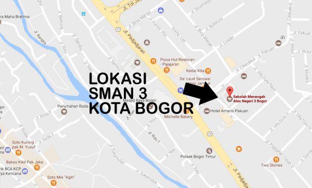 alamat lokasi peta sman 3 bogor