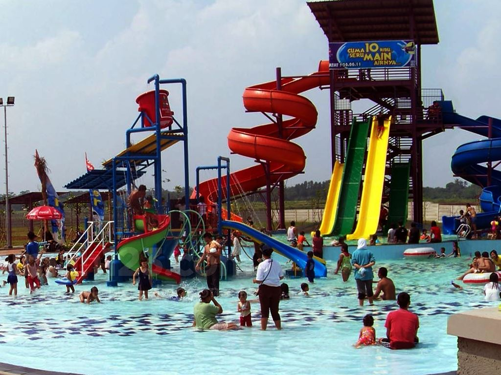 Berenang Murah Meriah Di Water Joy Water Park Harvest City