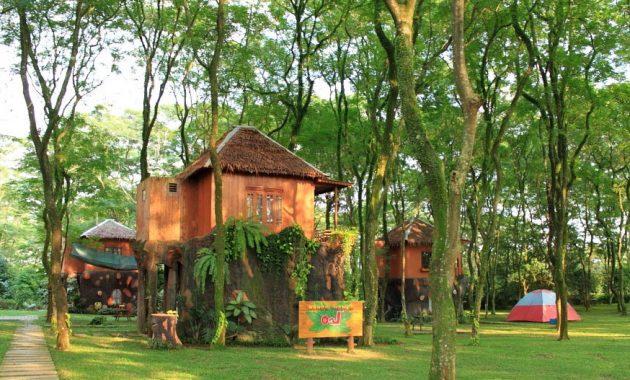 sewa foto rumah pohon leo di mekarsari